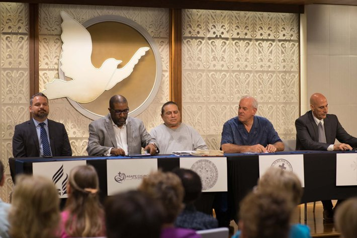 Panel of religious leaders representing religions born in the Americas