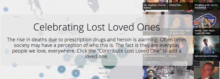 Image from website where families share stories of their loved ones lost to drugs.