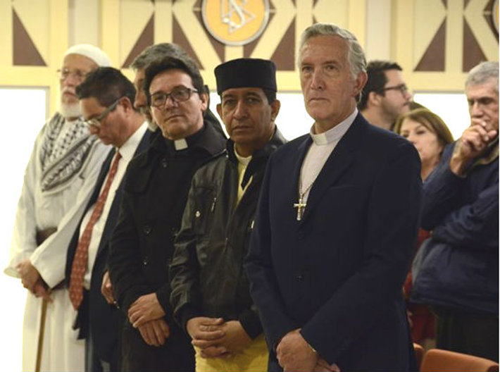 Religious leaders stand in solidarity to support the religious beliefs of all.