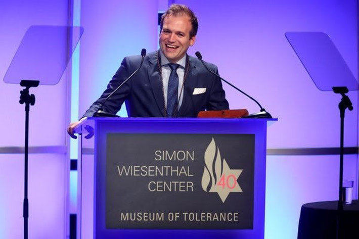 Rev. Johnny Moore,  Simon Wiesenthal Center Medal of Valor honoree