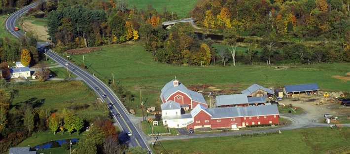 Vermont farmlands.