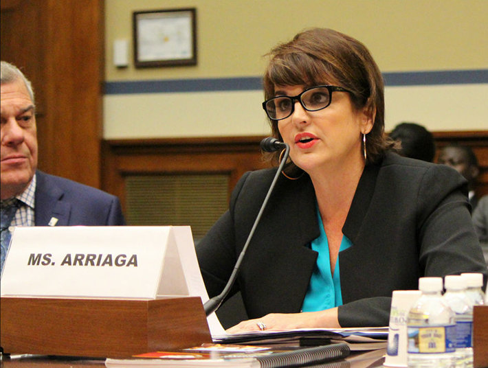 USCIRF Vice Chairwoman Kristina Arriaga, testifying before the House Oversight Committee.
