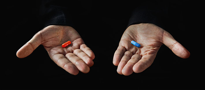 red and blue pill