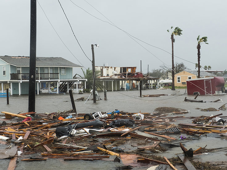 August 26, 2017. Hurricane Harvey, Rockport, Texas