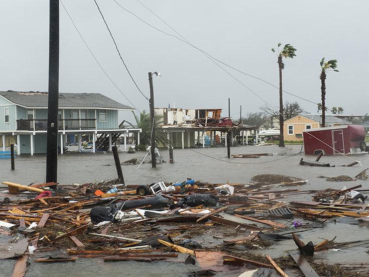 August 26, 2017. Hurricane Harvey, Rockport, Texas