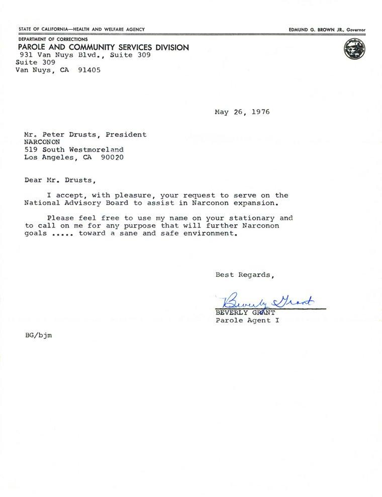 California Parole Agent Accepts Narconon Advisory Board Position