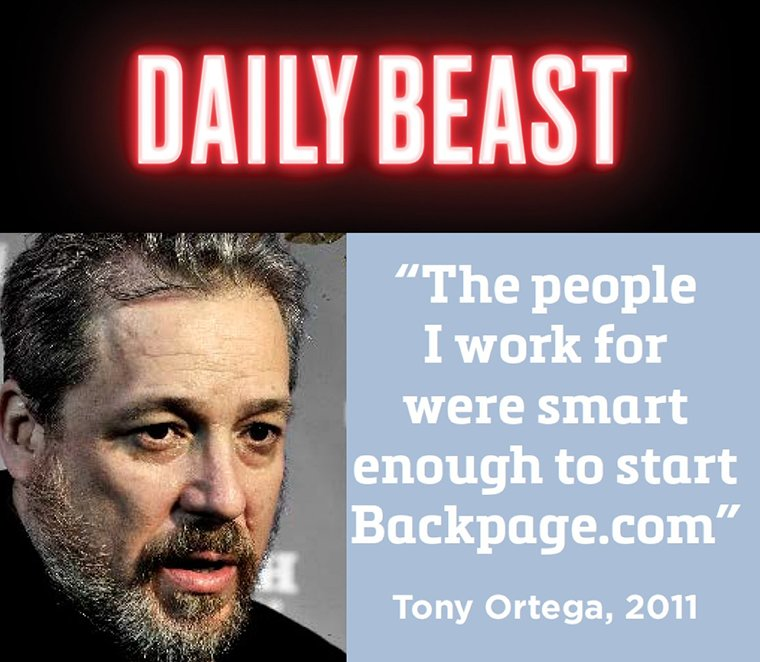 Tony Ortega and Backpage bosses