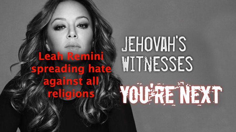"Leah Remini Turning Her Religious Bigotry and Hate ""Brand"" into a ""Franchise"""