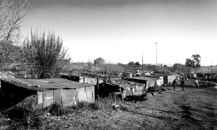 Abject poverty defines the landscape in Soweto