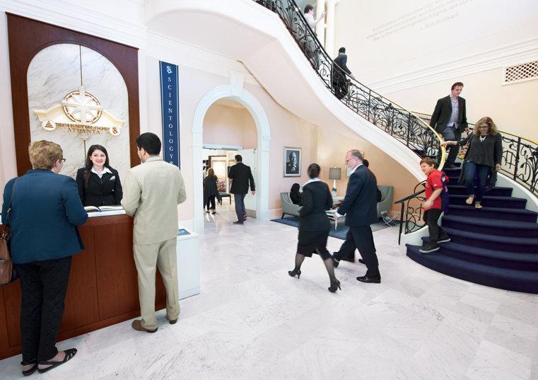 Church of Scientology Atlanta. Reception area