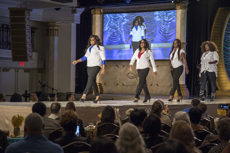 "Young ladies modeled fashions at the Fort Harrison September 30 for the 5th annual ""Runaway to Runway"" fashion show fundraiser for Miracles Outreach nonprofit."