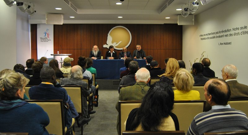 Human rights roundtable at the Brussels-based Churches of Scientology for Europe