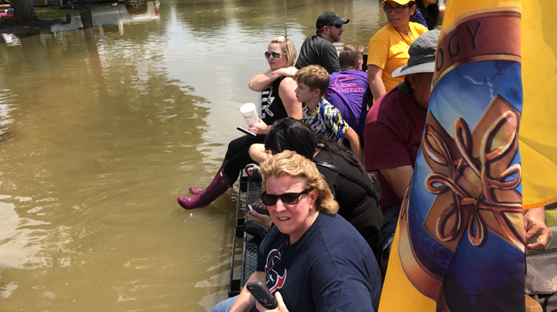 Scientology Volunteer Ministers rescue people stranded by Hurricane Harvey.