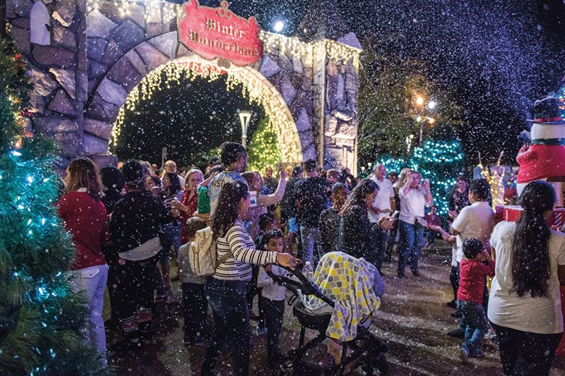There was snow for those attending the opening night of the 25th annual downtown Clearwater winter wonderland.