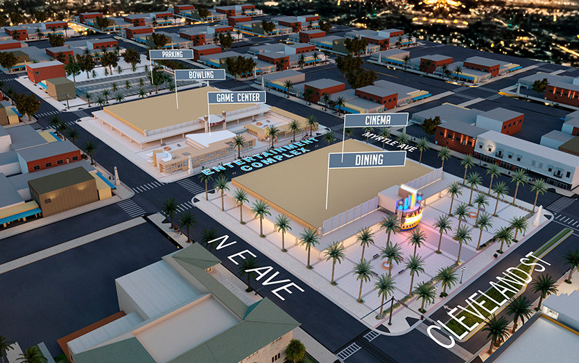 Clearwater. City Planning. Entertainment block.