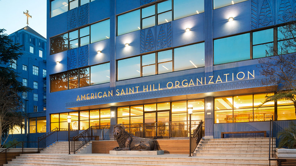L'organisation américaine et Saint Hill à Los Angeles, en Californie