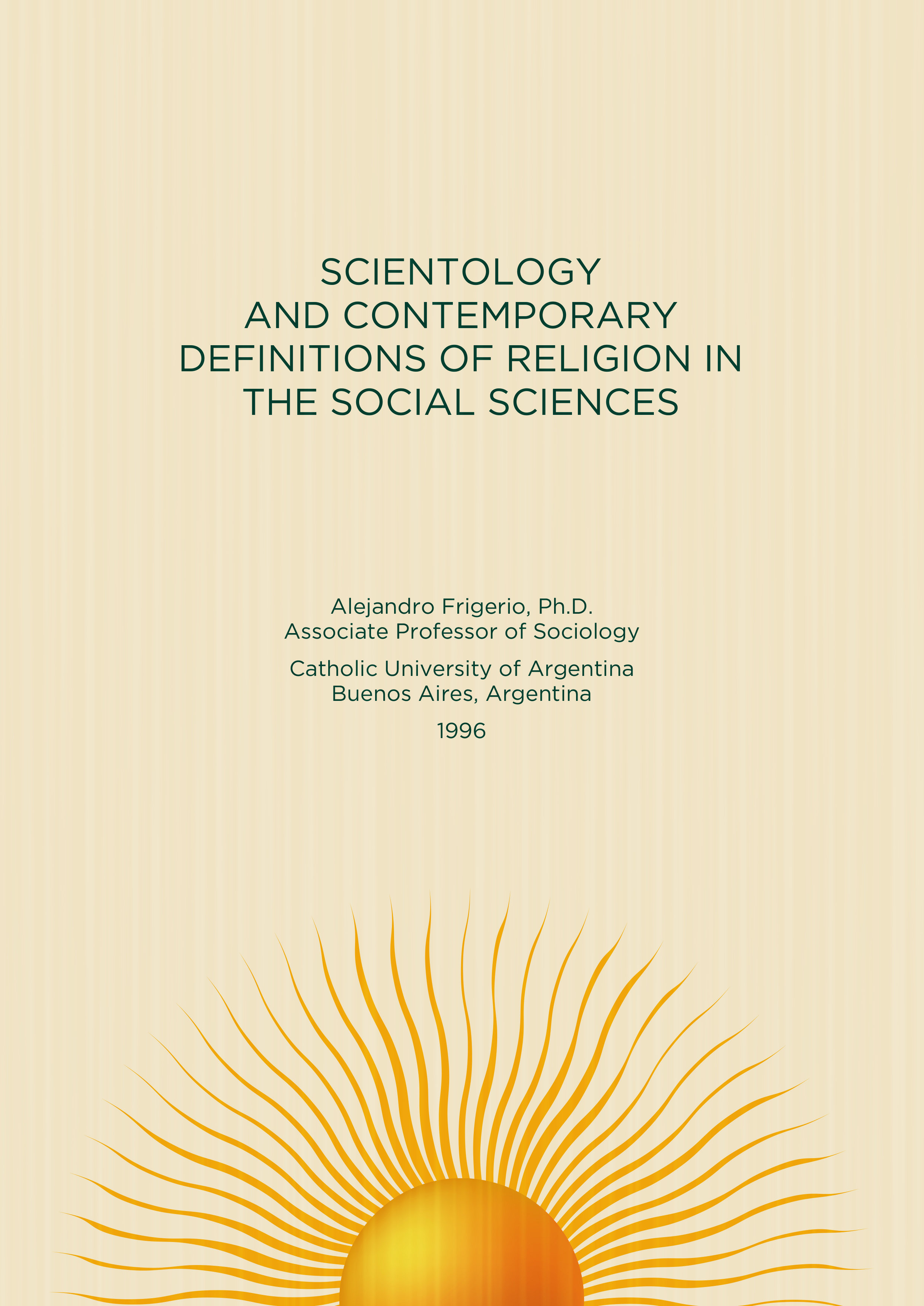 Scientology: An Analysis And Comparison Of Its Religious Systems And  Doctrines
