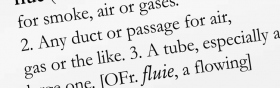 "4. ""Flue"" in this dictionary has other definitions, each of which you would clear and use in sentences."