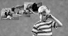 Quando uma criança experimenta alguma coisa perturbadora ou traumática, incidentes semelhantes podem reactivar–se na sua mente.