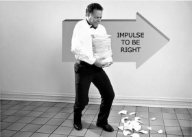 When a wrong action occurs, the person is thrown into conflict between his wrong action and impulse to be right...