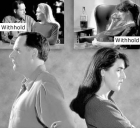 A withhold is an undisclosed contrasurvival act. If a husband and wife have withholds, the marriage will suffer.