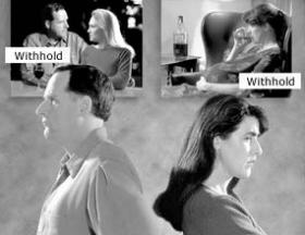 Un withhold è un atto non rivelato contrario alla sopravvivenza. Se un marito, o una moglie, ha withhold, il matrimonio ne risente negativamente.