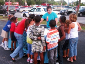 Foundation for a Drug-Free World members empower youth with the facts about drugs during Ocala's Red Ribbon Week activities.