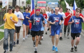Runners went from town-to-town carrying the anti-drug message across the length and breadth of the Czech Republic.