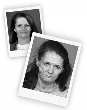 Метамфетаминовая наркоманка в 2002 году... И2,5 года спустя