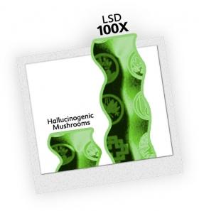 ЛСД – самый мощный галлюциногенный (изменяющий разум) наркотик. ЛСД в 100 раз мощнее, чем галлюциногенные грибы.