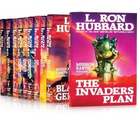 《地球任務》系列初版,每一本都是《紐約時報》榜上的暢銷書。
