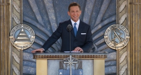 "Describing the significance of the occasion, Mr. Miscavige told the audience: ""Today marks a milestone step in our planetary crusade to bring on our help on a truly global scale-so that one day there is no crime, no war, no insanity, a world in which Man is free to rise to greater heights."""