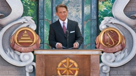 Mr. David Miscavige, Chairman of the Board of Religious Technology Center and ecclesiastical leader of the Scientology religion dedicated the new Church of Scientology of Tampa in honor of Founder L. Ron Hubbard's Centennial year.