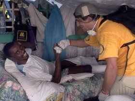 VM teams included their own medical personnel, from doctors to nurses and midwives. They worked through sixteen refugee camps, each bursting with up to 10,000 people in tents.