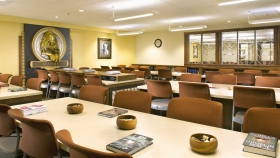 Scientology Course Room Scientologists study an array of courses to train as auditors (spiritual counselors), capable of applying Dianetics and Scientology technology to help others attain spiritual freedom.