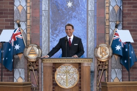 Mr. David Miscavige, Chairman of the Board of Religious Technology Center and ecclesiastical leader of the Scientology religion, dedicated the new Church of Scientology of Melbourne.