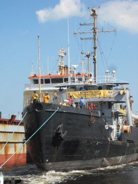 The former US Coast Guard Ship and icebreaker Hornbeam has been chartered by the Scientology Volunteer Ministers to bring more than 160 tons of aid materials and supplies to Haiti.