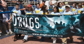 Drug-free youth promoting a drug-free life.