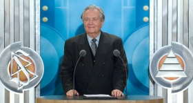 "Dr. Jürgen Redhardt, Professor Emeritus of Giessen University: ""Applying Scientology in today's Germany can mean to understand oneself better. It is my conviction that Dianetics and Scientology are able to assist in catapulting people's awareness into new realms of understanding."""