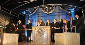 Las Vegas staff and local Scientologists who spearheaded the drive to build the new Church joined Mr. David Miscavige in cutting the ribbon.