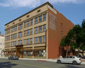 Artist's rendition of the planned exterior of the new Church of Scientology of Pasadena.