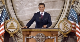 Mr. David Miscavige, Chairman of the Board and ecclesiastical leader of the Scientology religion, officiated at the dedication this day, inaugurating a new Church in the nation's capital.