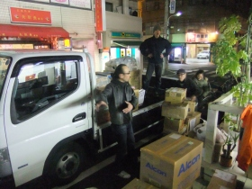Volunteer ministers helped distribute urgently needed supplies.