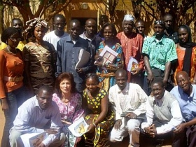 The members of the Maliane Association in West Africa