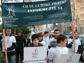 Youth for Human Rights Slovakia on Human Rights Day 2009