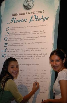 Drug-Free Youth Become Mentors