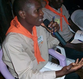 Charles Omanga, scouting coordinator from the Nyanza region of Kenya, at Scientology Volunteer Ministers seminar in November 2009.