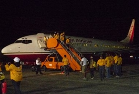 One of the charter flights that brought medical professionals and Scientology Volunteer Ministers to Haiti, arranged by Joava Good
