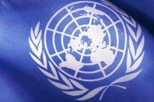 Представители пятидесяти стран встретились в1945году вСан-Франциско исформировали Организацию Объединённых Наций для защиты иподдержания мира.