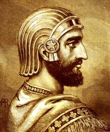 Cyrus de Grote was de eerste koning van Perzië, in 539 v.Chr. bevrijdde hij de slaven van de stad Babylon.